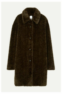 Deveaux - Oversized Faux Fur Coat - Brown
