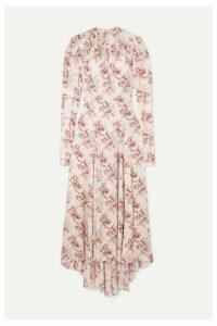 Paco Rabanne - Floral-print Satin Midi Dress - Ivory