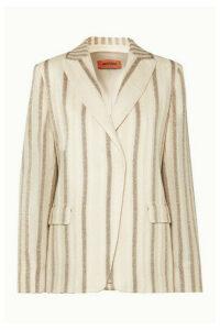 Missoni - Striped Metallic Crochet-knit Blazer - Ivory