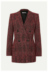 Givenchy - Double-breasted Bouclé-tweed Blazer - Red