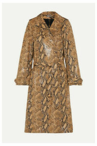 Ellery - Spectrum Snake-effect Faux Leather Trench Coat - Brown