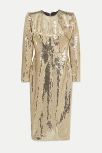 Alex Perry - Williams Sequined Crepe Midi Dress - Gold