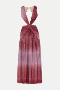 PatBO - Cutout Twist-front Ombré Lurex Maxi Dress - Pink