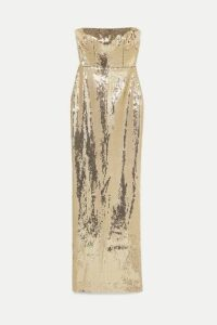 Alex Perry - Howard Strapless Sequined Crepe Gown - Gold