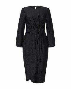 Yumi Curves Twist Knot Lurex Party Dress