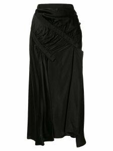 Christopher Esber ruched midi skirt - Black