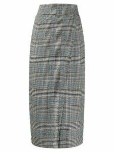 L'Autre Chose checked pencil skirt - Grey