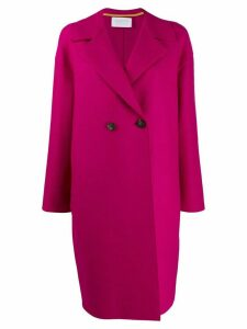 Harris Wharf London double breasted cocoon coat - Pink