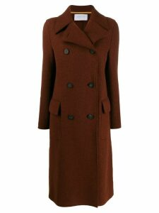 Harris Wharf London double-breasted woven coat - Brown