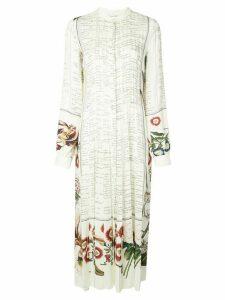 Oscar de la Renta floral script print dress - White