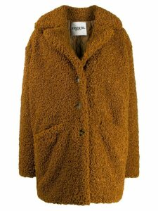 Essentiel Antwerp Tribal oversized teddy coat - Brown