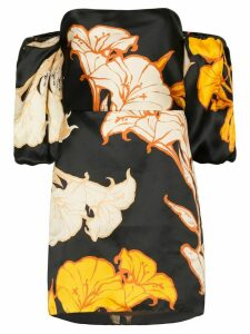 Johanna Ortiz Cosmic Origin floral silk mini dress - Black