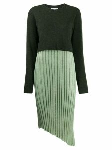 JW Anderson layered pleated dress - Green