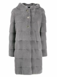 Liska hooded coat - Grey