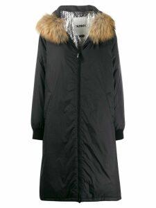 Yves Salomon Army oversized parka coat - Black