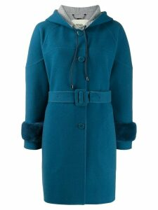 Fendi belted single-breasted coat - Blue