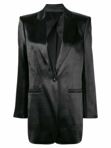 Philosophy Di Lorenzo Serafini SATIN BLAZER OVERSIZED - Black
