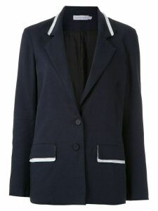 Mara Mac plunge neck blazer - Blue