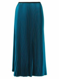 Blanca pleated midi skirt - Blue