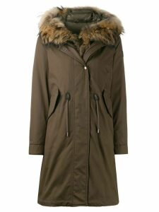 Woolrich hooded mid-length parka - Green