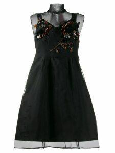 Dorothee Schumacher tulle embellished cocktail dress - Black