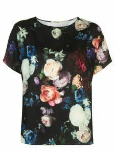 Adam Lippes floral print blouse - Black