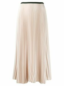 Blanca pleated midi skirt - NEUTRALS