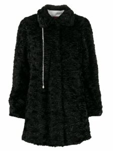 srvz club crystal detail coat - Black