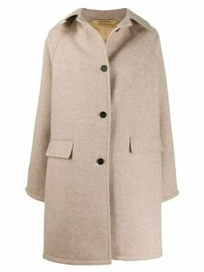 Kassl Editions single-breasted mid-length coat - Neutrals