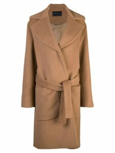 Proenza Schouler Long Oversized Alpaca Coat - Brown