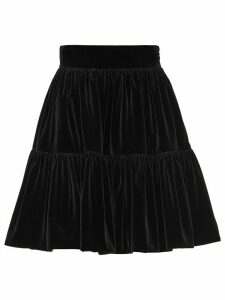 Miu Miu tiered skirt - Black