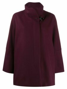 Fay oversized single-breasted coat - Red