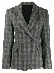 Antonelli Fabien glen plaid blazer - Grey