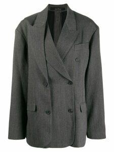 Rokh oversized layered blazer - Grey