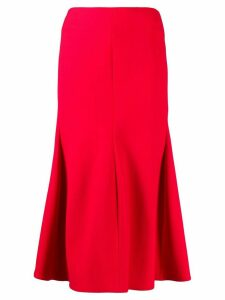 Victoria Beckham high waist midi skirt - Red