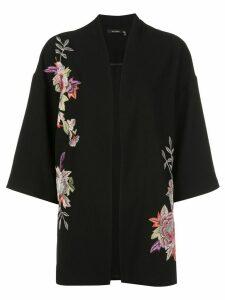 Natori kimono style coat - Black