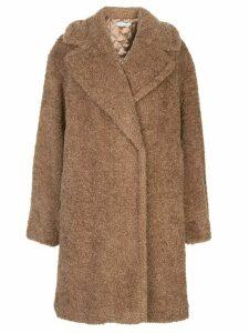 Alice+Olivia Charlie oversized midi coat - Brown
