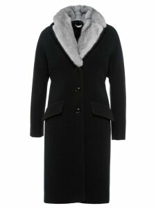 Miu Miu mink fur trim coat - Black
