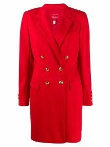 Escada structured shoulder double-breasted coat