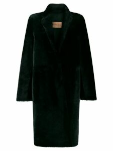 Yves Salomon longline shearling coat - Green