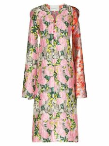 Shuting Qiu floral jacquard shift dress - Pink