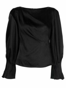 Peter Pilotto draped satin blouse - Black