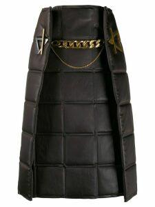 Bottega Veneta quilted layered skirt - Brown
