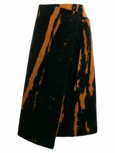 Tela intarsia-knit wrap skirt - Black