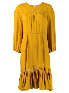 Dorothee Schumacher silk tiered style dress - Yellow