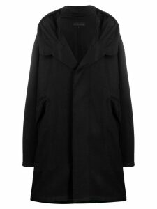 Ann Demeulemeester oversized fit coat - Black