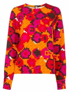 Marni cady fabric top - ORANGE