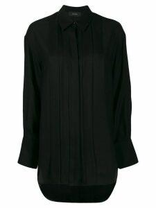 Joseph pleated button-down shirt - Black