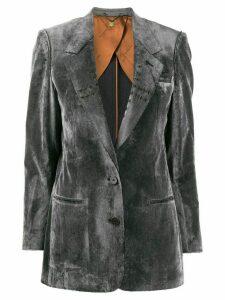 Maurizio Miri Mila cross detail blazer - Grey
