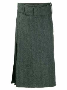 Rokh asymmetric waist skirt - Grey